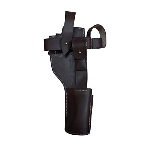 warreplica German C96 Broomhandle Mauser Holster Brown Color - Reproduction (German Mauser Broomhandle Leather Holster And Stock)