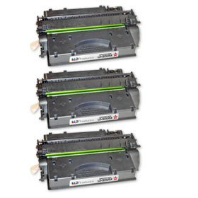 LD © Compatible Replacement Laser Toner Cartridges for Hewlett Packard (HP) CE505X (05X) High Yield Black (3 Pack) for use in the LaserJet P2055d, P2055dn & P2055x (Hp 05a Cartridge)