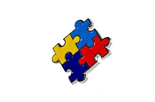 Autism Awareness Puzzle Pin - Autism Awareness Colorful Puzzle Pieces Lapel Hat Pins Raise Awareness PPM7303 (1 Pin)