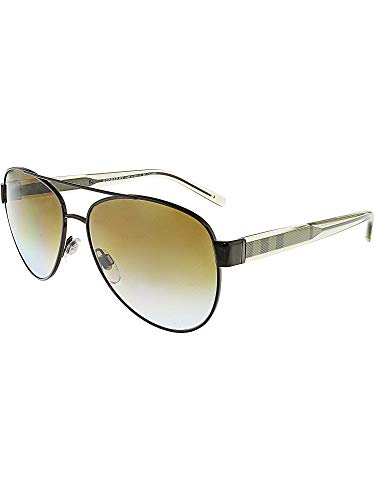 Burberry Women's 0BE3084 Brushed Brown/Transparent Light Brown/Polar Gradient Brown (Burberry Sunglasses)