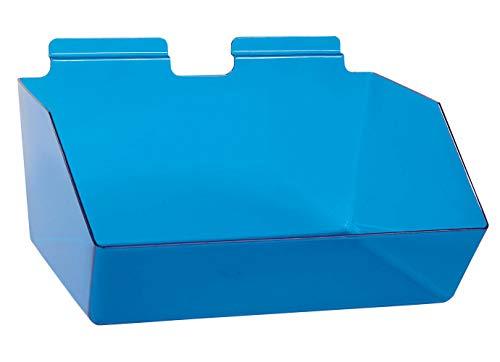 "Buy All Store 6 Slatwall Bins Dump Acrylic Blue 12"" x 9 ½"" x 5 ½"" Wire Grid Slat Wall Retail -  buyallstore"