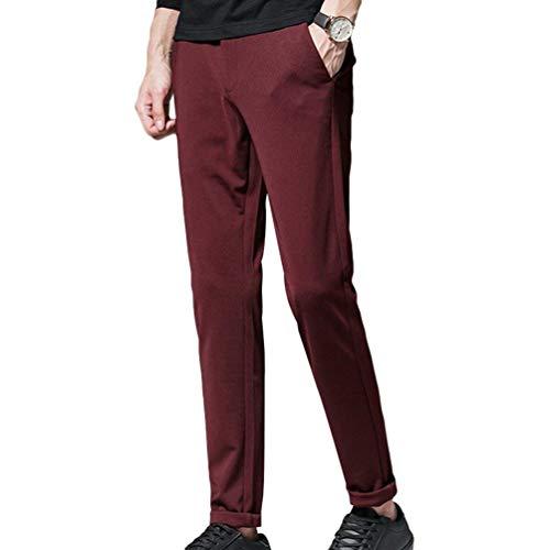 Taglie Classici Gamba Comode Winered Suit Pantaloni Slim Chino Size Abiti Business Casual Uomo 2 Da color A Autunno Dritta Leisure 36 Primavera Oq0x5q8f