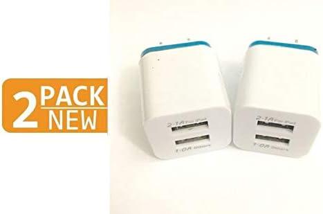 Amazon.com: Cargador de pared doble, 2 puertos USB de 2,1 V ...