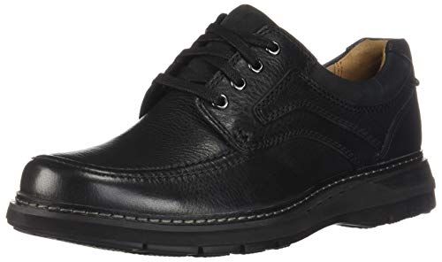 Tumbled Leather Oxford - CLARKS New Men's Un Ramble Lace Oxford Black Tumbled Leather 11.5