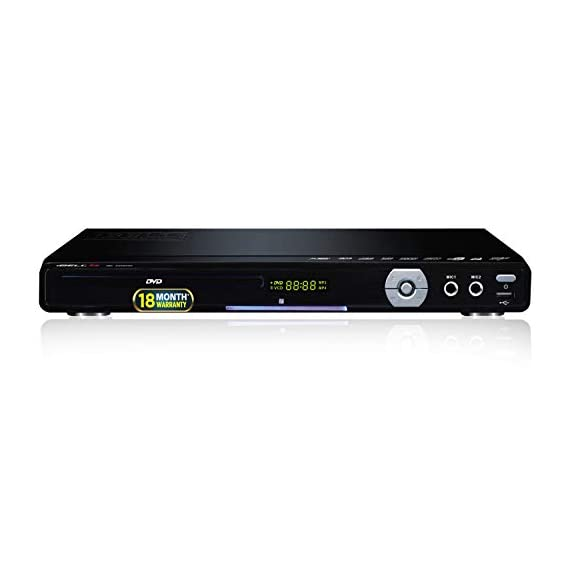 iBELL 3288HD DVD Player with Built-in Amplifier, 4 Digit Display,HDMI & USB Copy Function