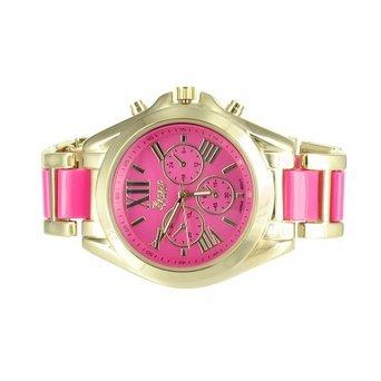 Tono de oro rosa Dial mujer reloj Geneva Platinum reloj Ladies redondo analógico venta