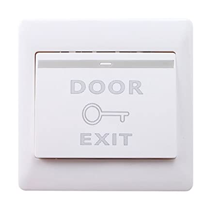 Mounted Exit Button With Bottom Box For Rfid Reader Card Open Door Access Switch Suitable For All Kinds Of Electric Lock Access Control Accessories Access Control