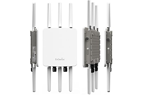 EnGenius High-Powered, Long-Range, Ruggedized 3 x 3 Dual-Band Wireless AC1750 Outdoor Access Point, 29 dBm, IP68, Gigabit Port, 802.3af/at PoE(ENH1750EXT) by EnGenius (Image #1)