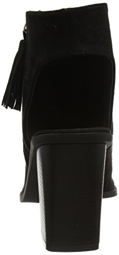 Boohoo Peep Toe Cut Out Heeled Boot WZZ01754, Botas Mujer Negro (Black Suede)