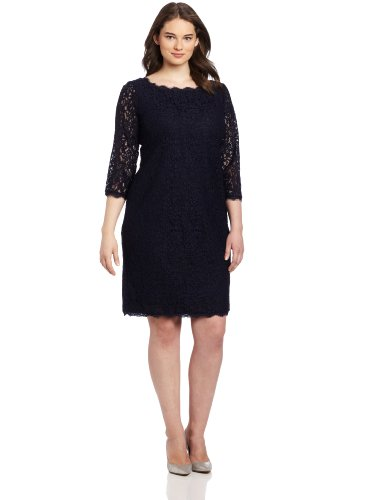 Adrianna Papell Women\'s Plus-Size Lace Dress