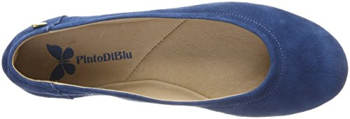 Blue Di Mujer BLU para 33 Bailarinas Azul Cerrada Punta Oriole con Pinto AHvxqww8