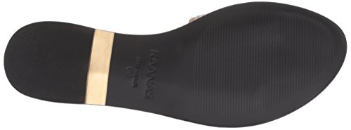 Leather Slide Sandal Women's KAANAS Guanabara Flat Strap Nude Multi gW7XWP0qZ