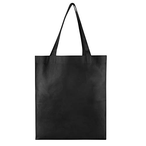 25 PACK - Wholesale Non-Woven Tote Bags, Convention Bags, Promotional Bags, NTB10 (BLACK)]()