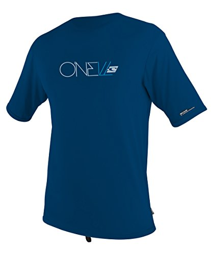 O'Neill Wetsuits UV Sun Protection Youth Skins Short Sleeve Tee Rashguard, Deep Sea, 14