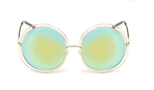 The Metal Round Frame Color Film Sunglasses For - Glasses Frame Cartier Gold