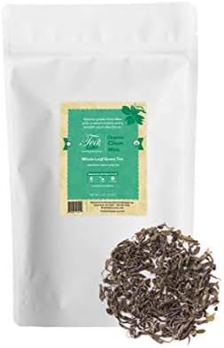 Heavenly Tea Leaves Chun Mee Green Tea, Bulk Loose Leaf Tea, 1 lb. Resealable Pouch