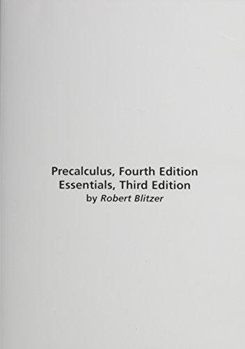 MathXL Tutorials on CD for Precalculus