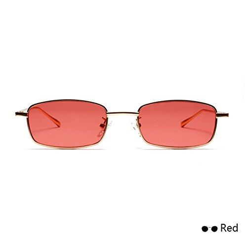 Externa Visor Red Cíclope Ocean TIANLIANG04 Para De Amarillo De Color Monturas Sol Gafas Metal Lente De Vidrio Única Chica Estrecho De Mujer Reflejado W8BqSwqgRX