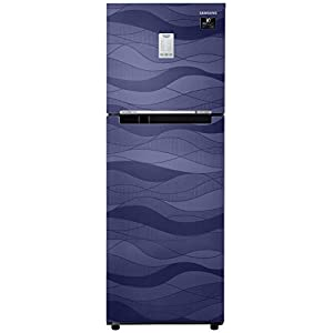 Samsung 253 L 3 Star Inverter Frost-Free Double Door Refrigerator (RT28T3753UV/HL, Blue Wave, Convertible)