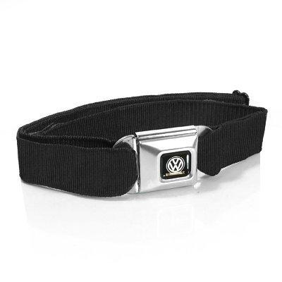 Volkswagen Logo Seatbelt Black Strap Belt (Volkswagen Belt compare prices)