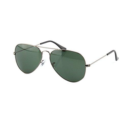 Couleur Lunettes Mirror Soleil Color Outdoor Pilote Confortable de Solaire Gun Gun Trend Dark Ai Mirror Green Protection de lele Fashion Color Lunettes 7xS1wqtTv
