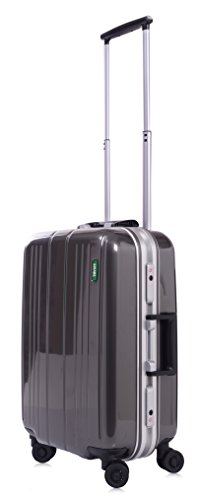lojel-superlative-frame-polycarbonate-small-upright-spinner-luggage-grey-one-size