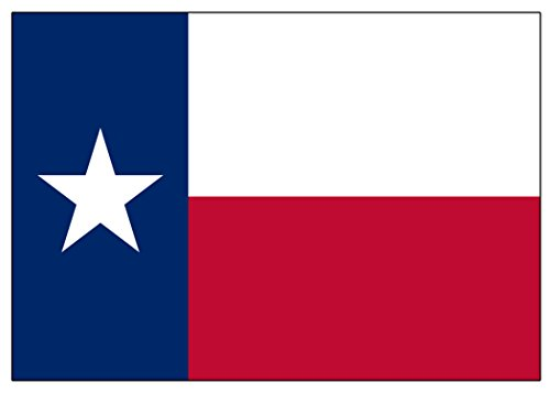 Texas State Flag Sticker Car Decal Bumper Sticker Lone Star Truck Window (3x5 ()