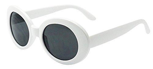 [MOD Style Oval Sunglasses (White)] (Mod White Sunglasses)