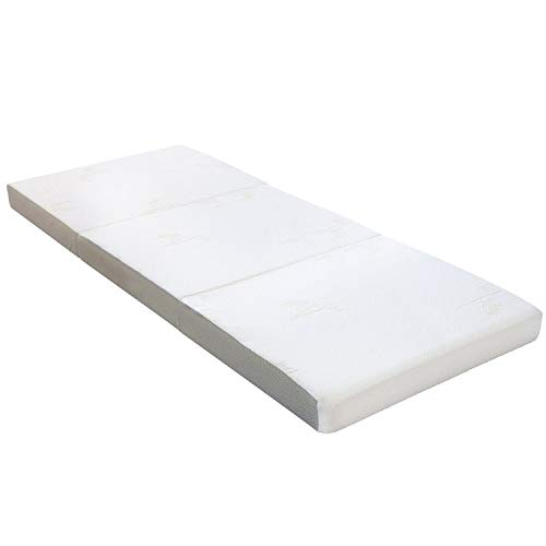 "Milliard Tri Folding Mattress, with Ultra Soft Removable Cover and Non-Slip Bottom (75"" x 31"") (4 Inch)"
