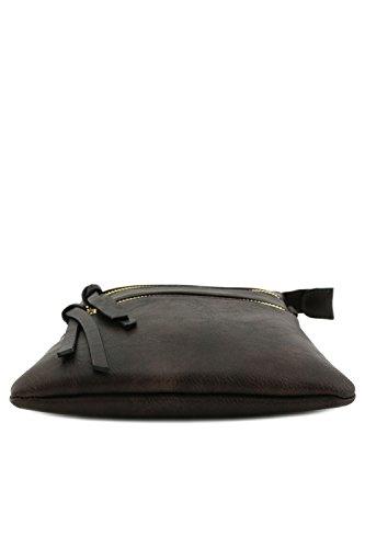 multitasche Funzionale a scuro marrone tracolla borsa qrxCpw5r