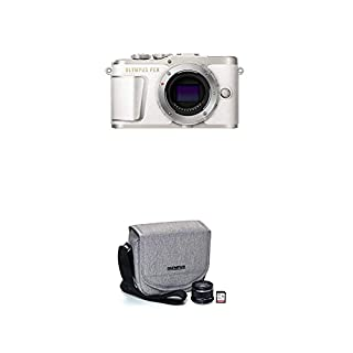 Olympus Pen E-PL9 Body only with 3-Inch LCD (Pearl White) with Step Up Kit