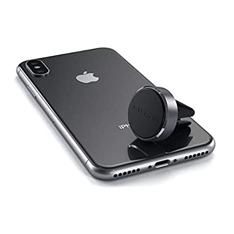Nexus 5X//6P and more Samsung Galaxy S9 Plus//S9 Compatible with iPhone XS Max//XS//XR//X Space Gray ST-MVMM 7 Plus//7 8 Plus//8 Satechi Air Vent Magnetic Aluminum Car Mount Holder