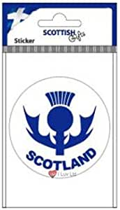 iLuv Scotland Thistle Round Sticker
