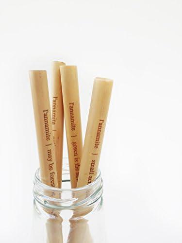 Lannamite - Pajitas de bambú orgánicas, con citas, reutilizables ...