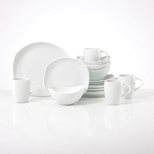Dansk 16 Piece - Dansk Classic White Porcelain Fjord 16-Piece Place Setting Dinnerware Sets