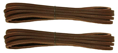 FeetPeople Leather Shoe/Boot Laces, Dark Chocolate, 45, 2 ()