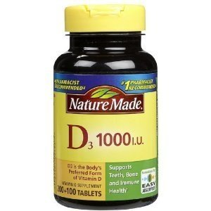 Nature Made Vitamin D3 1000 IU, 300 Tablets