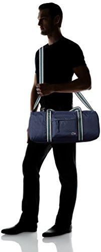 Lacoste Men's Tennis Set Duffle Bag, Peacoat Sinople Stripe, One Size by Lacoste (Image #5)