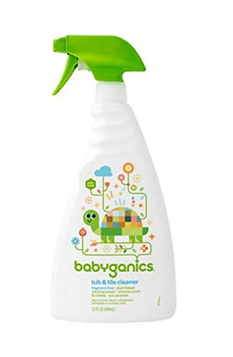 Babyganics Tub - Babyganics Tub & Tile Cleaner, Fragrance Free 32 oz (946 ml),2pk