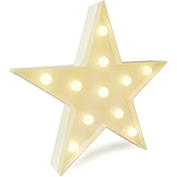 Amazon.com: LED Star Light, YiaMia Cute Star Night Table Lamp Light ...
