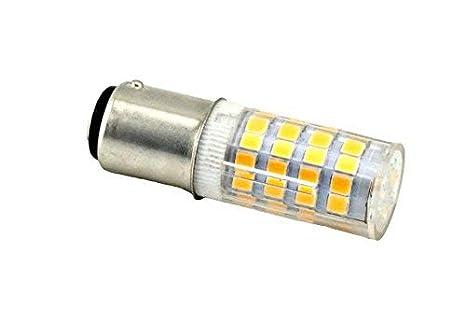 Bonlux BA15d SBC LED Bombilla 220V 4W para Máquina de Coser con Doble Conecto (2-Packs, Luz Fría, Reemplazo de 35W Halógena): Amazon.es: Iluminación