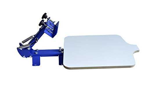 INTBUYING Screen Printing Press T-Shirt Screen Printing Machine One Color Manual (1 Color 1 Station Screen Printing Press)
