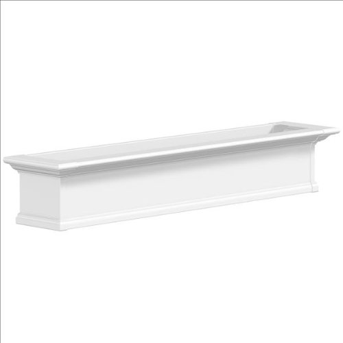 60 in. Yorkshire Window Box in White ()
