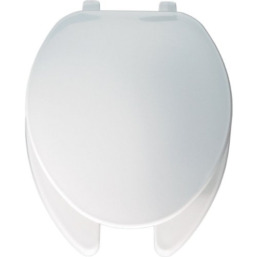 Bemis 175000 Economy Plastic Open Front with Cover Elongated Toilet Seat, White