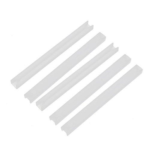 uxcell 5pcs CG-300 Nylon Horizontal Mounting PCB Card Guide Rail Slot Rod Bar 76mm Length
