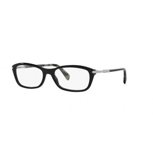 - Prada PR04PV Eyeglass Frames 1AB1O1-52 - Black PR04PV-1AB1O1-52