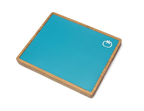 Lipper International 8869 Bamboo Wood Cutting Board with 6 Colored Poly Inlay Mats, 16'' x 13-1/8'' x 1-5/8'' by Lipper International (Image #3)