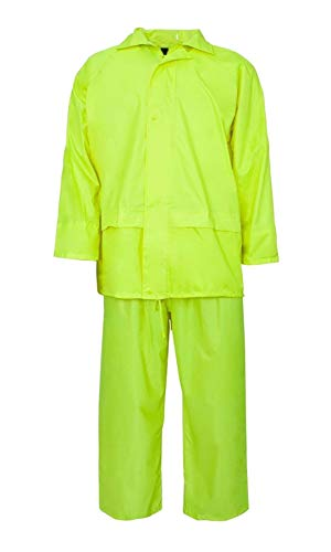 - FASHION FAIRIES Mens Long Sleeves Reflective Tape Safety Rainsuit Adults Hi Viz Work Wear Dress#(Yellow Long Sleeves Waterproof Rainsuit#X-Large#Mens)