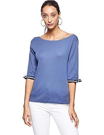 OVS Women's 191TSH088-71 T-Shirt, Blue (Dark Denim 2185), 2X-Large