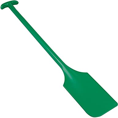 Remco 67752 Green Polypropylene Paddle Scraper without Holes 13 L x 6 W 40 OAL